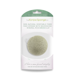 Deluxe Konjac Sponge Puff with Added French Green Clay