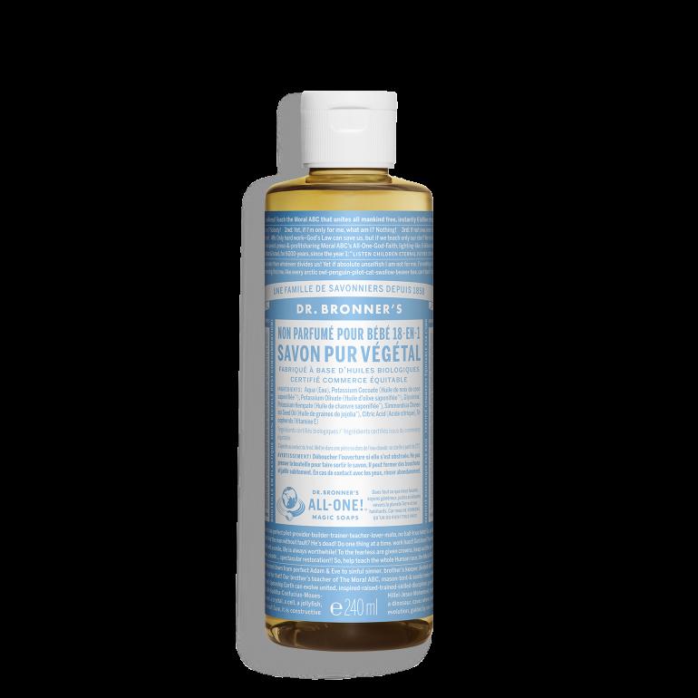 Savon liquide végétale non-parfumé (doux-bébé)