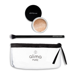 Trousse Alima : Pinceau Highlighter + Highlighter Rosegold