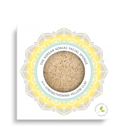 Konjac Facial Puff Sponge with Yellow Clay