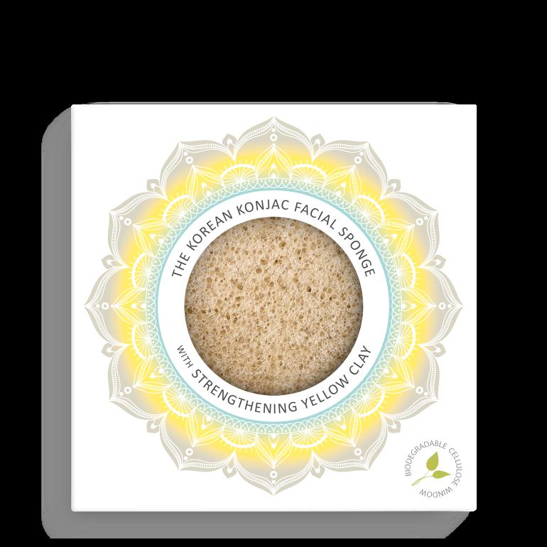 Konjac Facial Puff Sponge with Yellow Clay