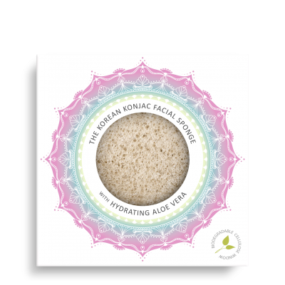 Konjac Facial Puff Sponge with Aloe Vera