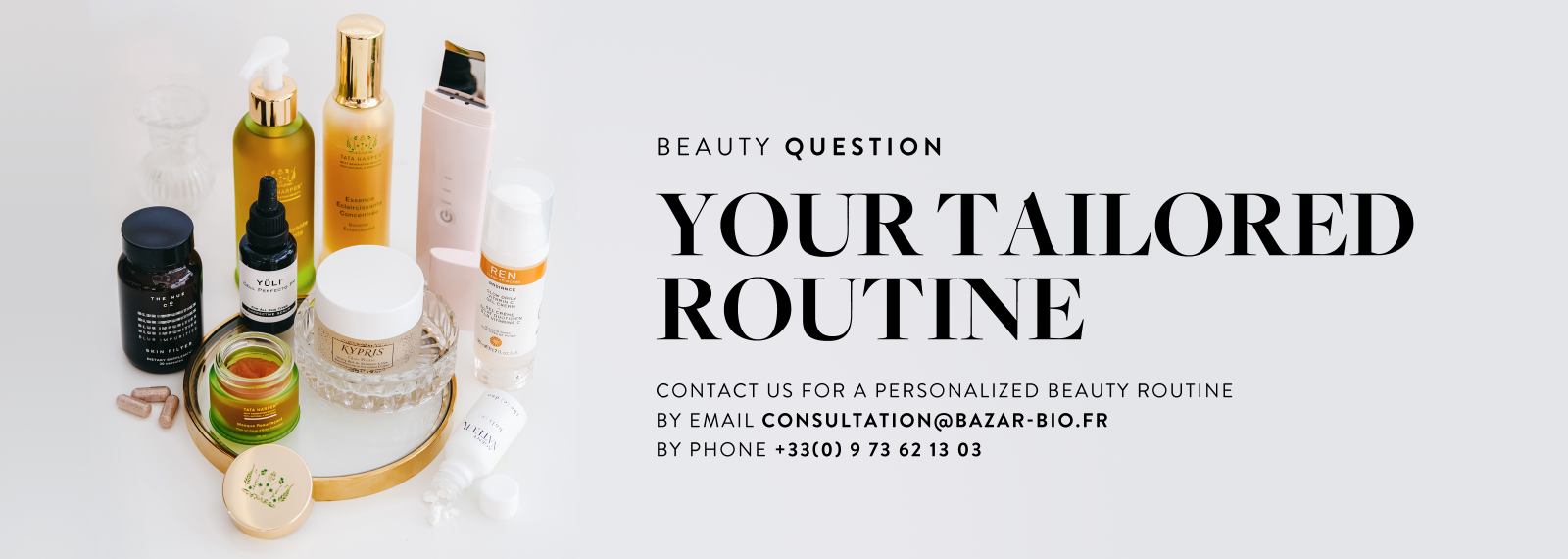 contact us for a personalized beauty routine